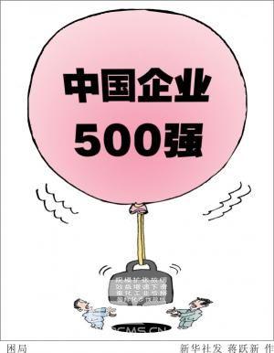 中国企业500强榜单折射中国大企业四大困局
