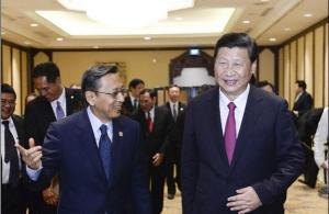 习近平会见印度尼西亚副总统布迪奥诺