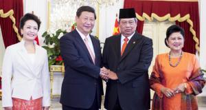 习近平同印度尼西亚总统苏西洛举行会谈