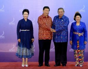 习近平和夫人彭丽媛出席苏西洛夫妇举行的欢迎晚宴